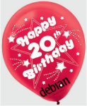 balloon Debian's 20th birthday